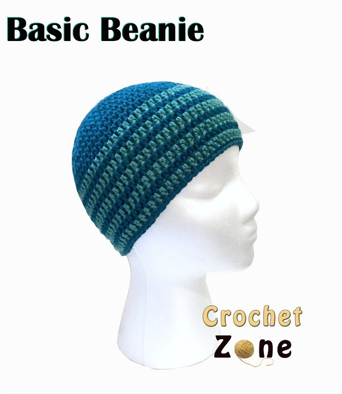 Elegant Free Crochet Pattern for Basic Beanie Crochet Zone Simple Crochet Beanie Of Amazing 46 Ideas Simple Crochet Beanie