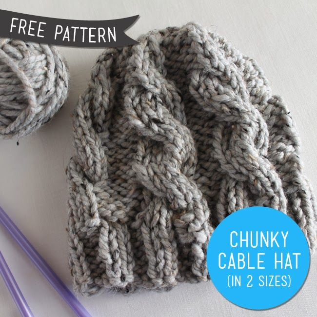 Elegant Free Pattern – Chunky Cable Knit Hat Revised Sew Diy Free Chunky Knitting Patterns Of Brilliant 46 Ideas Free Chunky Knitting Patterns