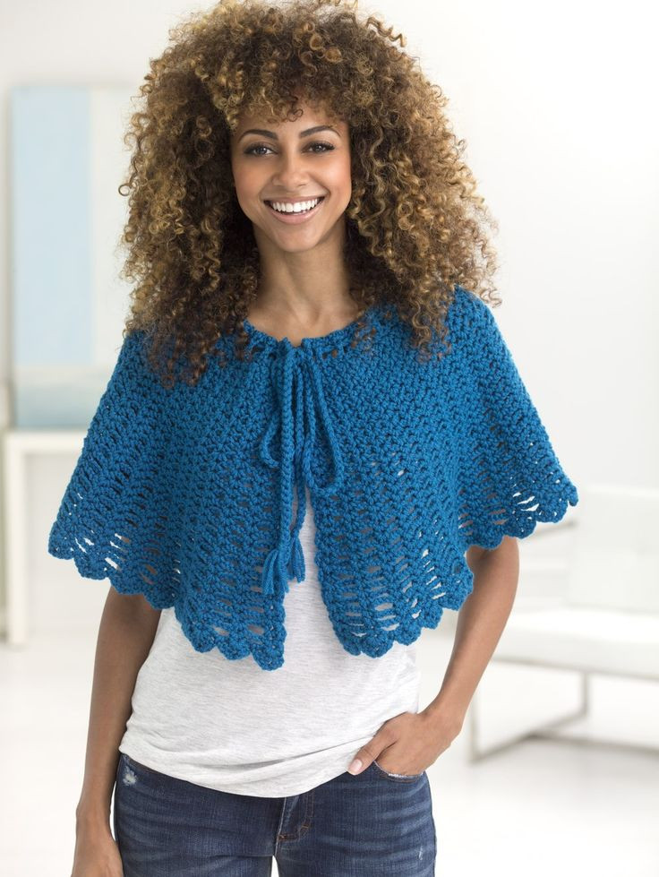 Elegant Free Pattern Openwork Cape Shawl Lion Brand Free Crochet Patterns Of New 46 Pictures Lion Brand Free Crochet Patterns