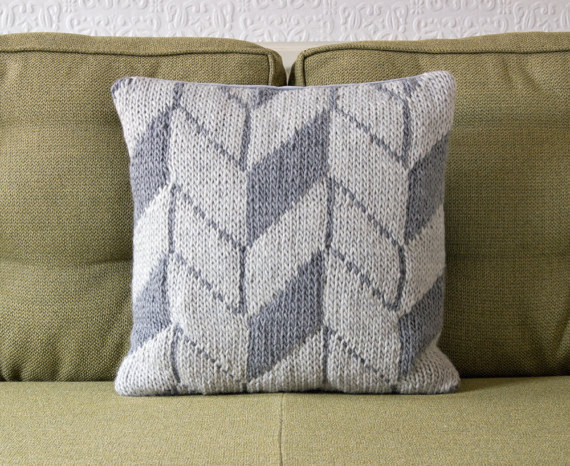 Geometric Pattern Gay Pillow Cushion Cover by Knit Frekkles contemporary decorative pillows