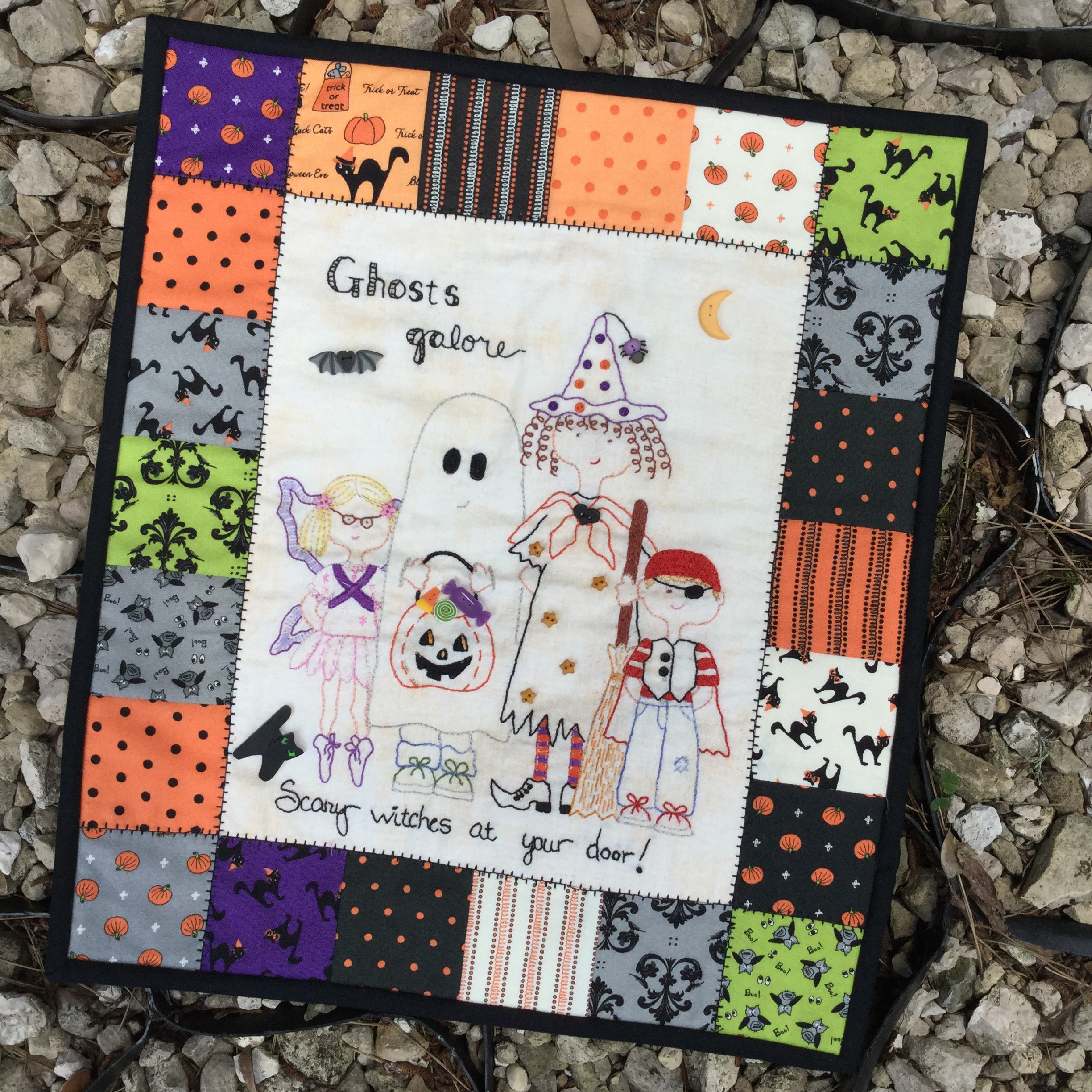 Elegant Ghosts Galore Pdf Downloadable Hand Embroidery Pattern Embroidery Quilt Patterns Of Contemporary 50 Pictures Embroidery Quilt Patterns