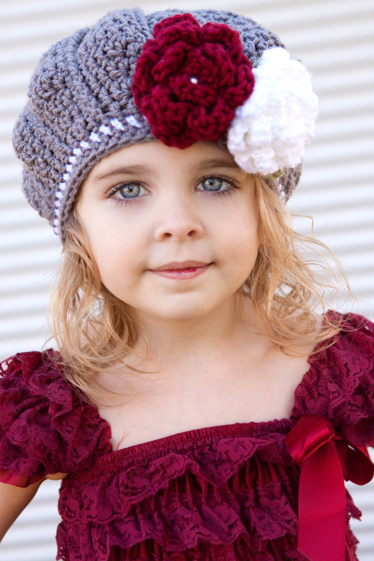 Elegant Girls Beautiful Crochet Grey and White Beret Fall Hat with Crochet for Girls Of Marvelous 40 Pics Crochet for Girls