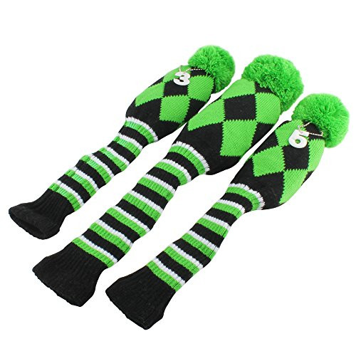Elegant Golf Club Knit Head Cover 3pcs Headcover Set Vintange Pom Knit Golf Headcovers Of Innovative 47 Models Knit Golf Headcovers