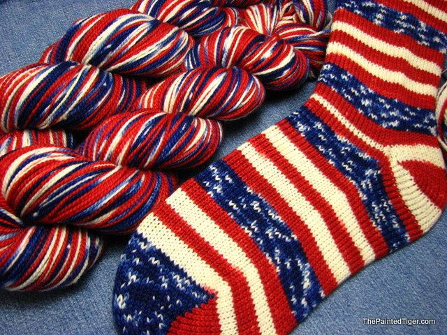 Elegant Grand Old Flag Tiger Twist sock Yarn Hand Dyed Patriotic Red White and Blue Yarn Of Awesome 48 Pictures Red White and Blue Yarn