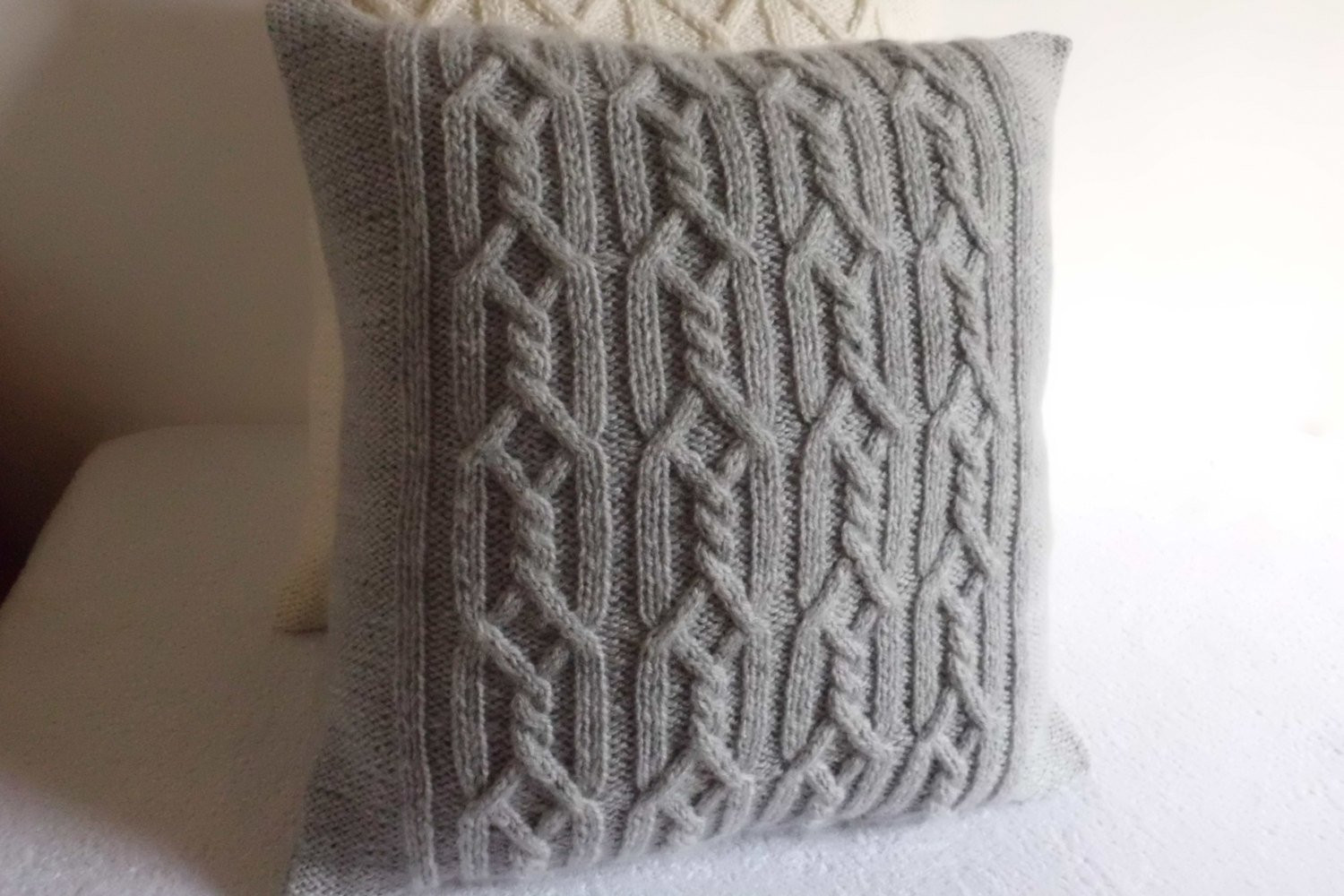 Elegant Gray Decorative Cable Knit Pillow Cover Throw Pillow Cover Cable Knit Pillow Cover Of Top 41 Pictures Cable Knit Pillow Cover