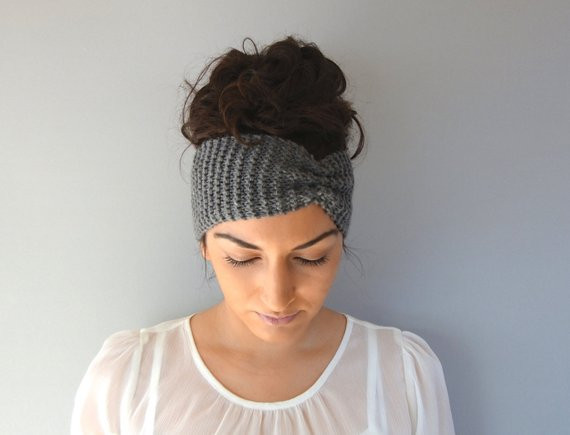 Elegant Gray Winter Headband Knitted Ear Warmer Fall Headband Knit Knit Winter Headband Of Charming 42 Pictures Knit Winter Headband