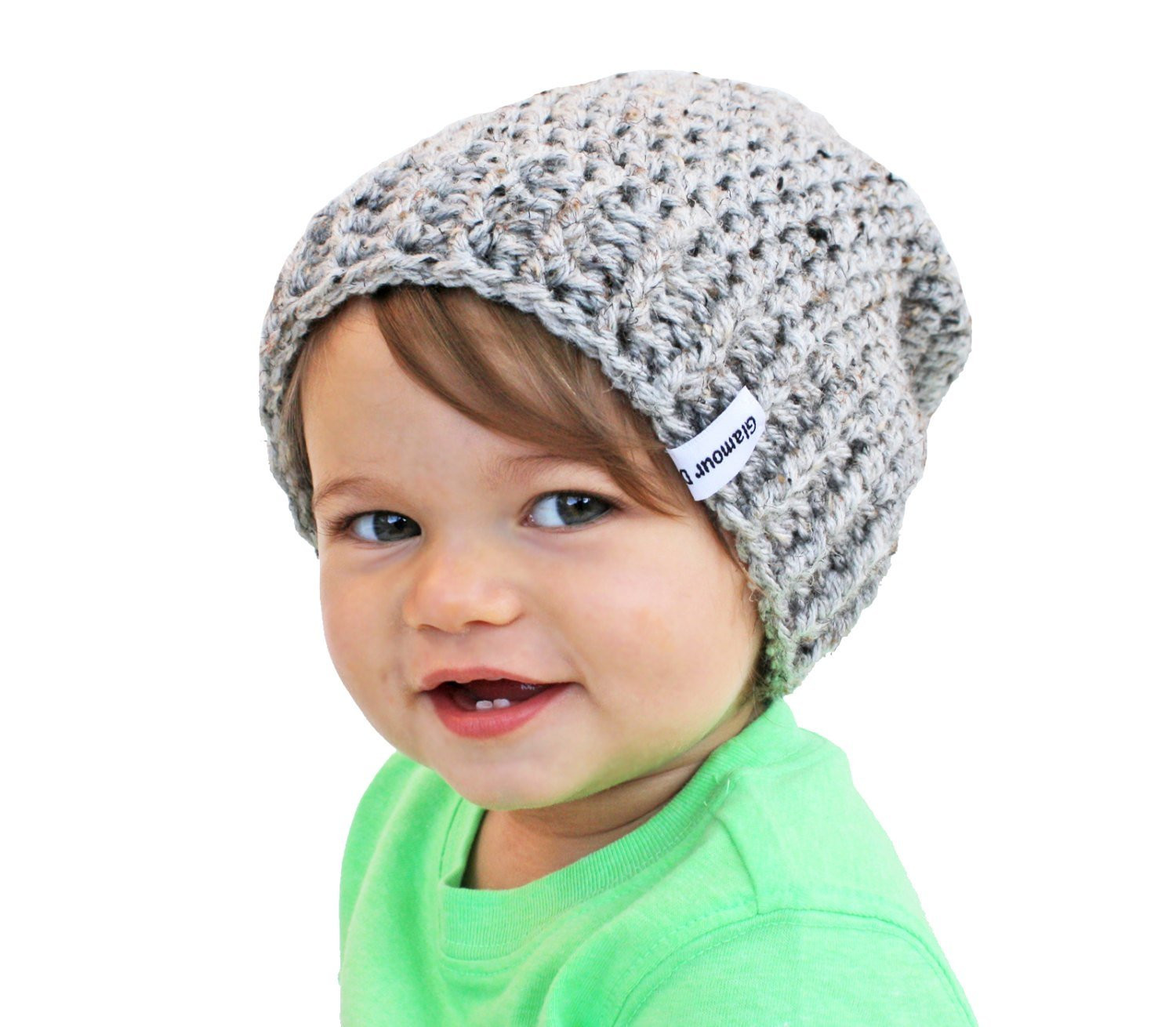Elegant Grey Baby Beanie Crochet Slouch Baby Beanie Any Size 0 8 Crochet toddler Beanie Of Delightful 40 Ideas Crochet toddler Beanie