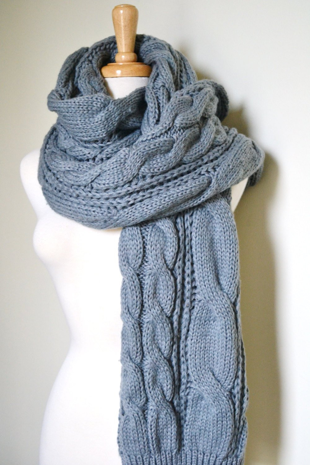 Elegant Grey Super Chunky Knitted Cable Scarf Uni Cozy Winter Cable Scarf Of Innovative 49 Ideas Cable Scarf