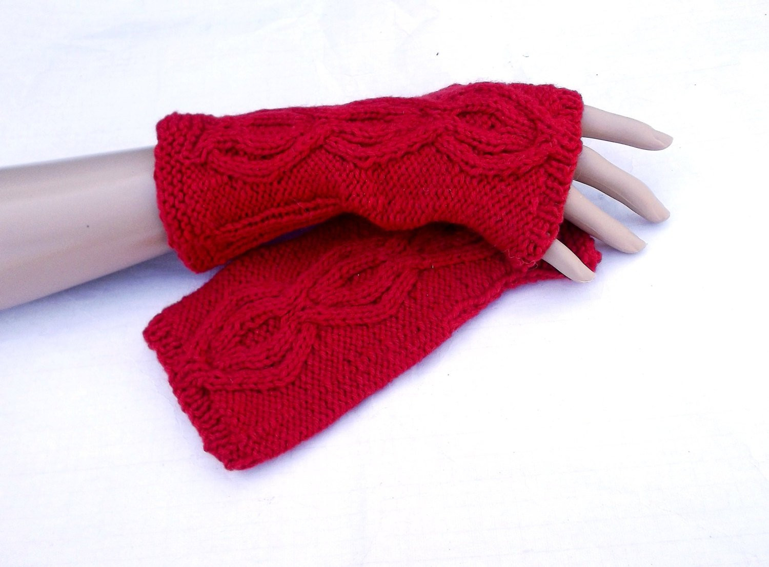 Elegant Hand Knitted Red Wool Arm Warmers Knit by Peonijahandmadeshop Knit Arm Warmers Of Brilliant 41 Images Knit Arm Warmers