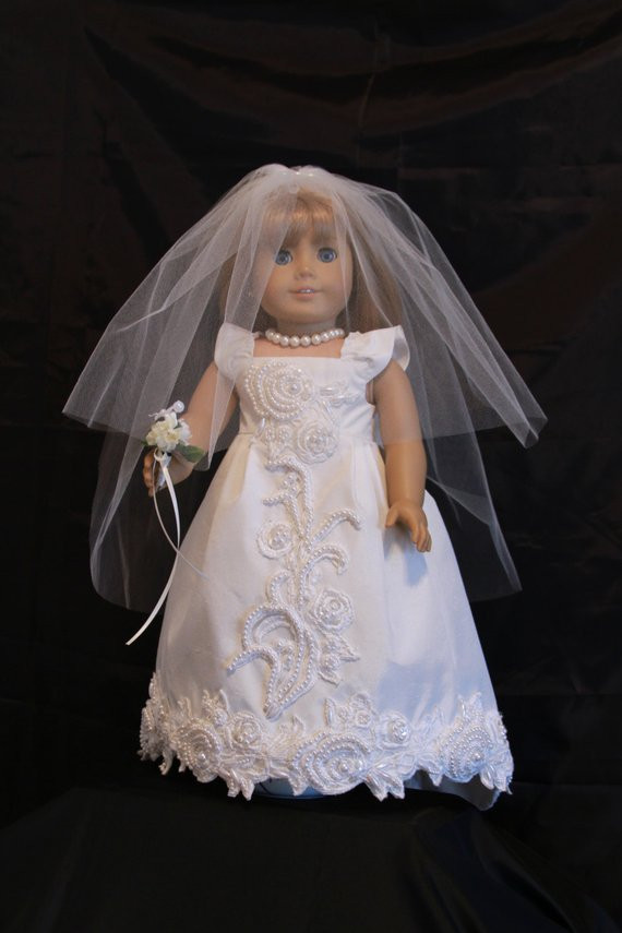 Elegant Handmade 18 Doll Wedding Dress Five Piece by Creationsbynoveda American Girl Doll Wedding Dress Of Unique Karen Mom Of Three S Craft Blog New From Rosie S Patterns American Girl Doll Wedding Dress