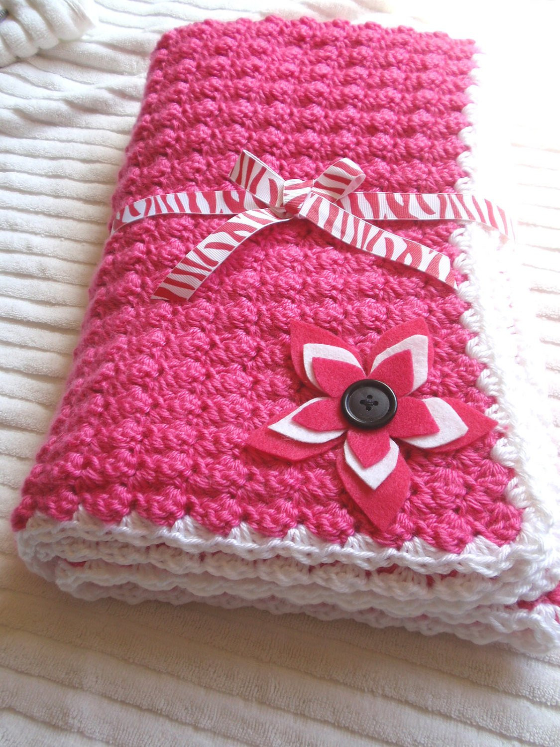 Elegant Handmade Crocheted Baby Blanket In White Pink and Black with Handmade Crochet Of Delightful 40 Pics Handmade Crochet