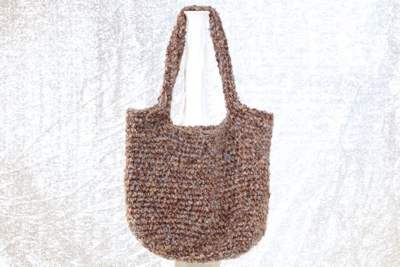 Elegant Handmade Purse Blue Brown Crochet Hobo Shoulder by Crochet Hobo Bag Of Adorable 47 Pictures Crochet Hobo Bag