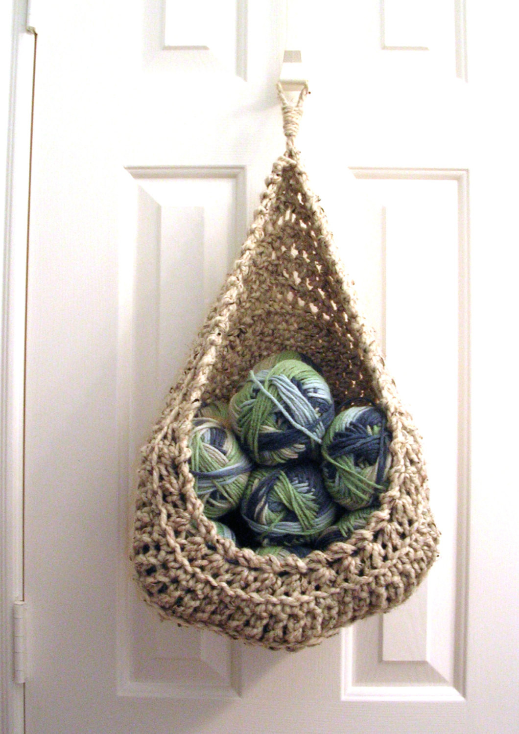 Elegant Hanging Crochet Basket Modern Wall or Door Storage Basket Crochet Hanging Basket Of Awesome 47 Photos Crochet Hanging Basket