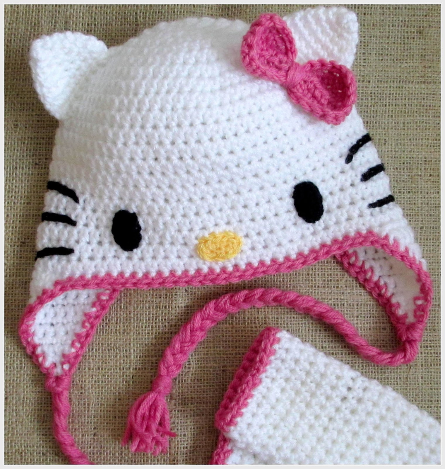 Elegant Hoffee and A Nuffin Hello Kitty Cat Ears Tutorial Hello Kitty Crochet Pattern Of Luxury 47 Images Hello Kitty Crochet Pattern