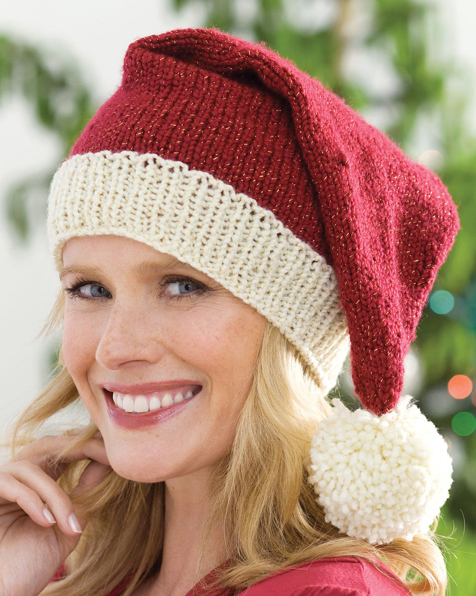 Elegant Holiday Wear Knitting Patterns Knitted Christmas Hats Of Adorable 50 Models Knitted Christmas Hats