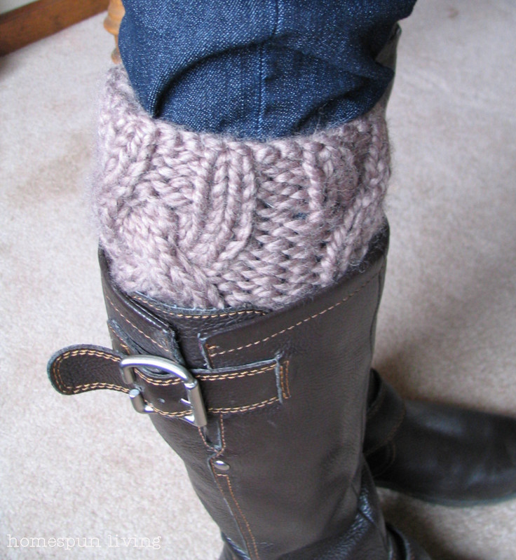 Elegant Homespun Living A Free Boot Cuff Pattern Just for You Knitted Boot Cuffs Of Great 41 Photos Knitted Boot Cuffs