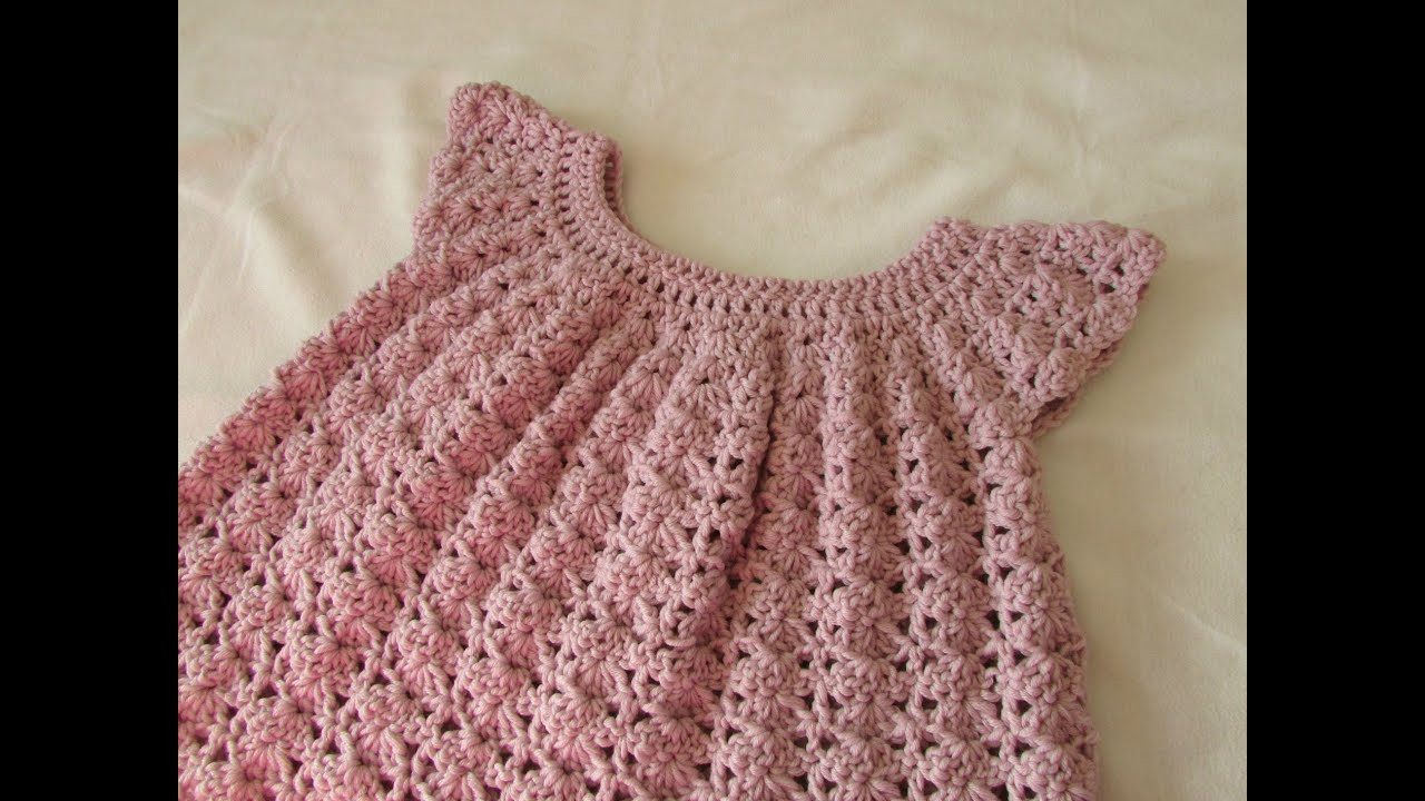 Elegant How to Crochet A Little Girl S Shell Stitch Dress top Crochet Little Girl Dress Of Awesome 44 Images Crochet Little Girl Dress