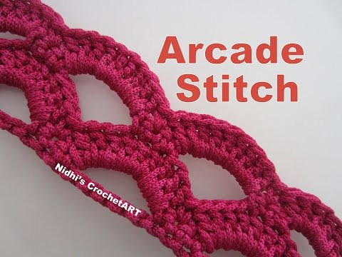 Elegant How to Crochet Arcade Stitch Tutorial Youtube Crochet Videos Of Lovely 45 Images Youtube Crochet Videos