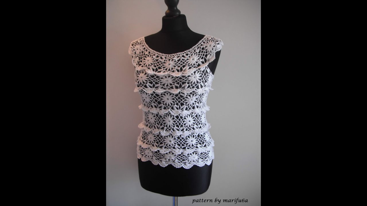 Elegant How to Crochet Ruffle Blouse by Marifu6a Free Crochet Crochet Blouse Of Superb 46 Models Crochet Blouse