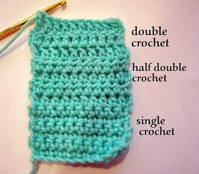 how to do single half and double crochet stitches