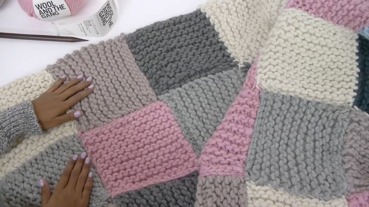 Elegant How to Knit A Patchwork Blanket with Wikihow Knitted Blanket Squares Of Unique 45 Photos Knitted Blanket Squares