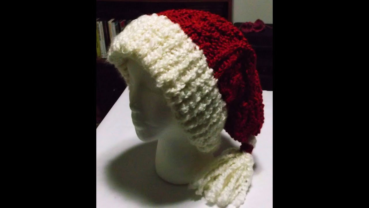 Elegant How to Loom Knit A Cabled Santa Hat Knitted Santa Hat Of Fresh 50 Photos Knitted Santa Hat