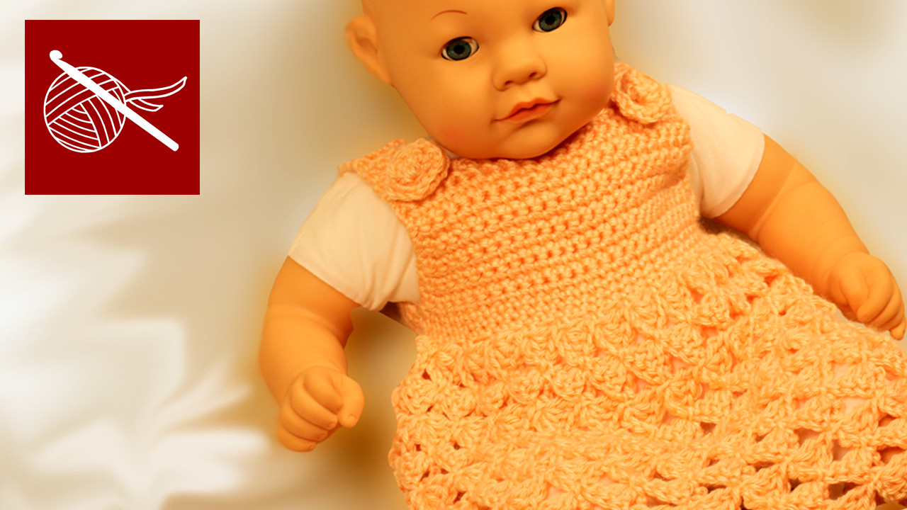 How to make a Crochet Baby Dress Abigail Free Crochet