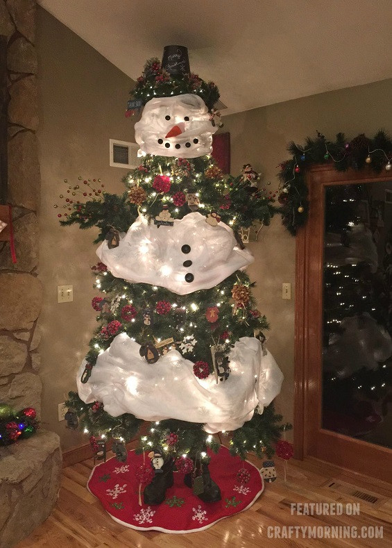 How to Make a Snowman Christmas Tree Crafty Morning