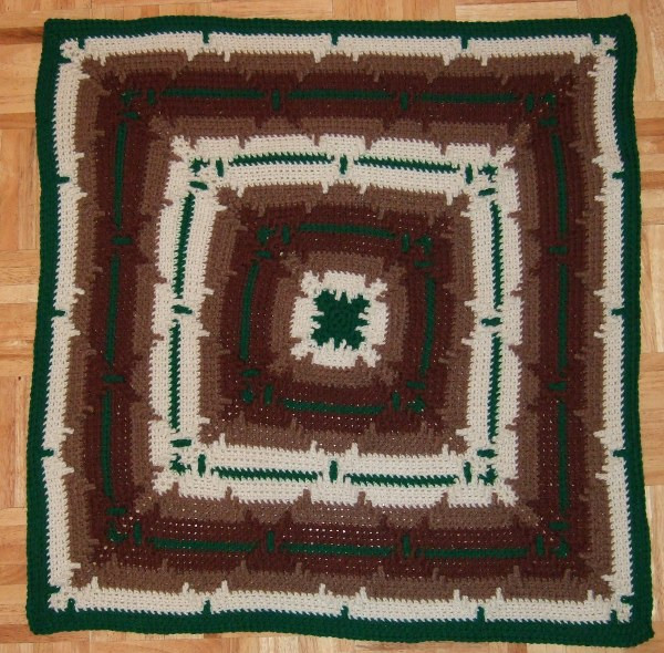 Elegant In the Round Square Navajo Lap Blanket Afghans Crocheted Navajo Crochet Pattern Of Perfect 48 Pics Navajo Crochet Pattern