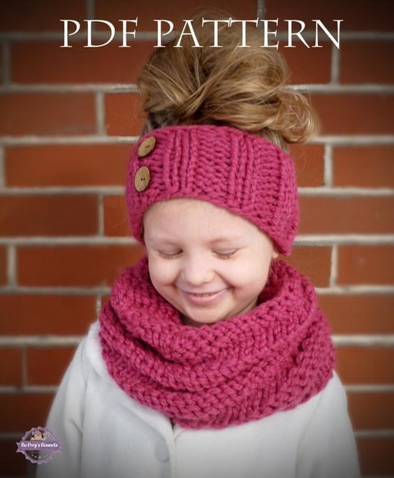 Elegant Instant Download Knitting Pattern Spiral Cowl and Headband Child Scarf Knit Pattern Of Top 42 Photos Child Scarf Knit Pattern