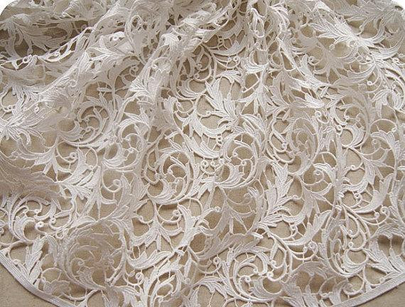 Elegant Items Similar to Bridal Lace Fabric Crochet Lace Fabric Crochet Lace Fabric Of Attractive 45 Images Crochet Lace Fabric
