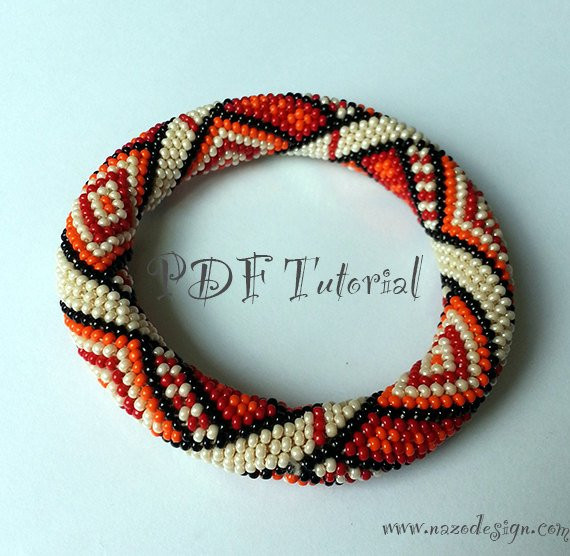 Elegant Items Similar to orange Rug Crochet Bead Bracelet Crochet Beaded Bracelet Pattern Of Brilliant 49 Images Crochet Beaded Bracelet Pattern