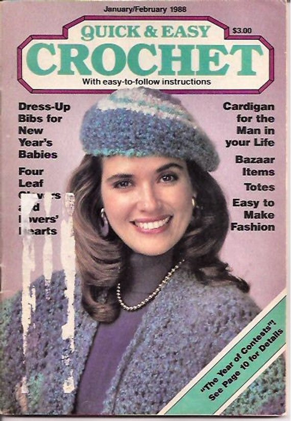 Elegant Items Similar to Quick and Easy Crochet Magazine Vintage Quick and Easy Crochet Magazine Of Amazing 40 Models Quick and Easy Crochet Magazine