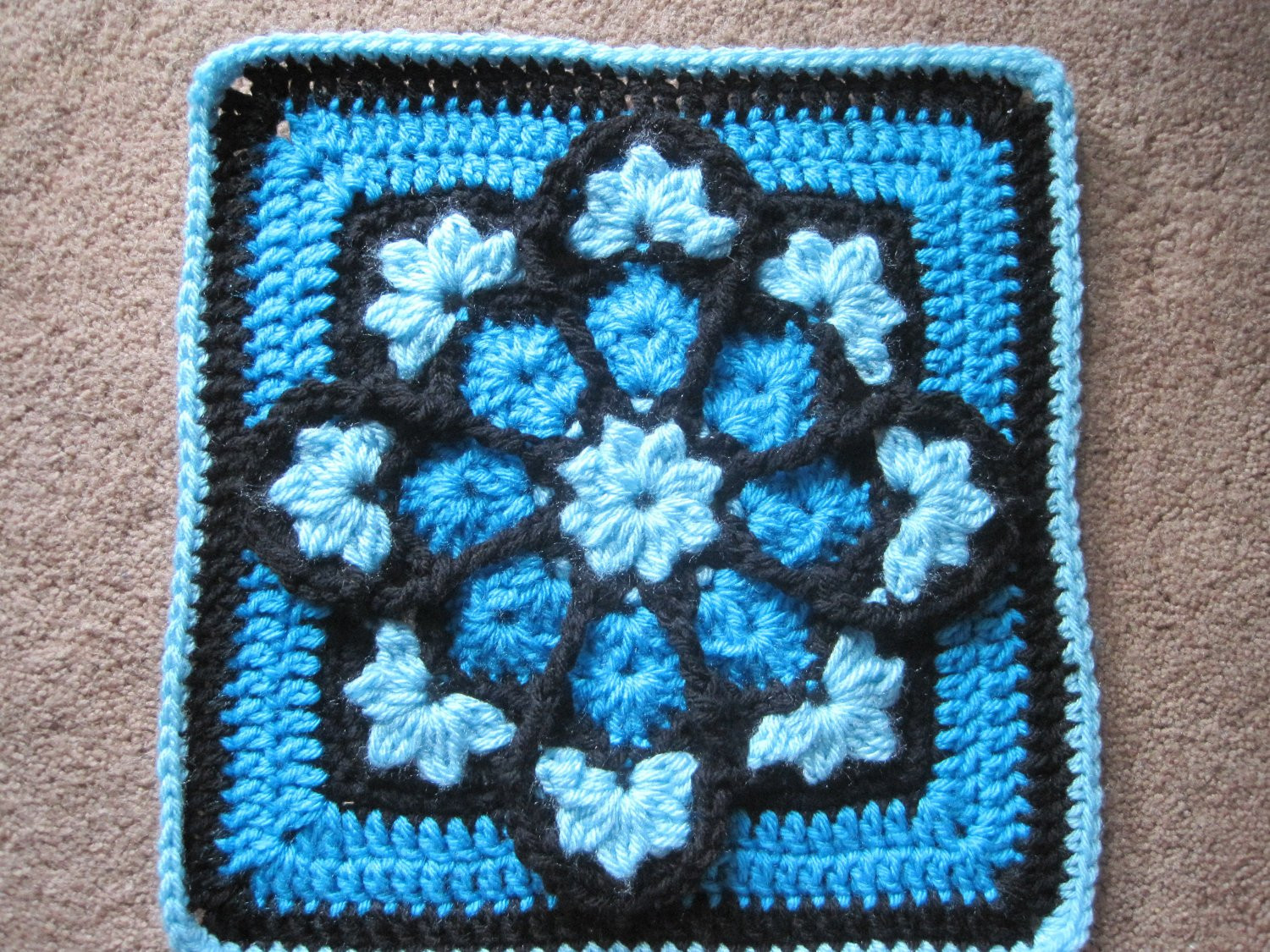 JulieAnny s Stained Glass Afghan Block Crochet Pattern