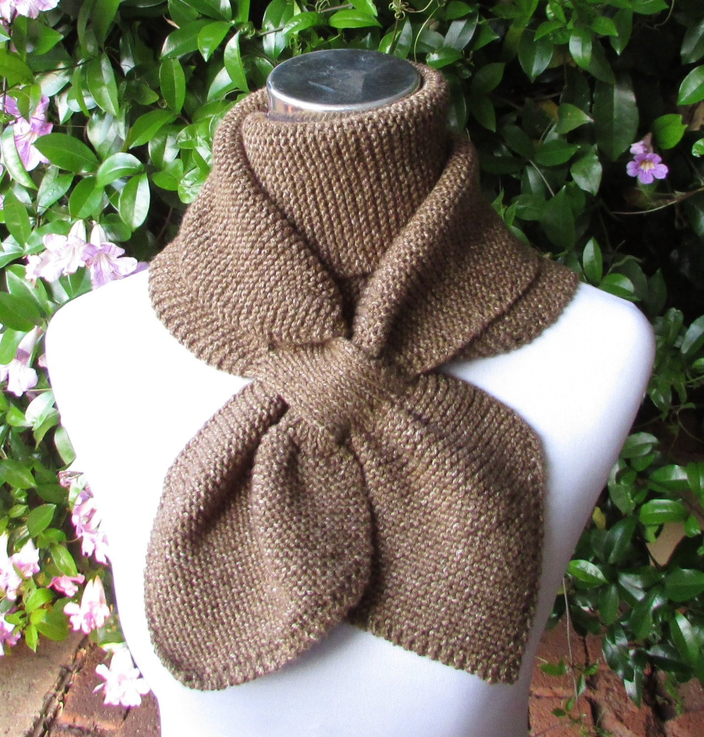 Elegant Keyhole Scarf Knitting Pattern Double Loop Keyhole Scarf Knitted Neck Warmer Of Amazing 47 Ideas Knitted Neck Warmer