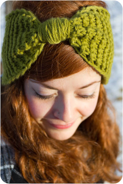 Kitten s Lost Her Mittens Knit Bow Ear Warmer With