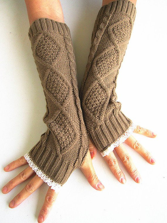 Elegant Knit Arm Warmers In Tan Fingerless Knit Gloves by Knitwit321 Knit Arm Warmers Of Brilliant 41 Images Knit Arm Warmers
