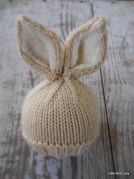 Elegant Knit Baby Bunny Newborn Hat Easter Rabbit Knitted Baby Bunny Hat Of Brilliant 47 Pictures Baby Bunny Hat