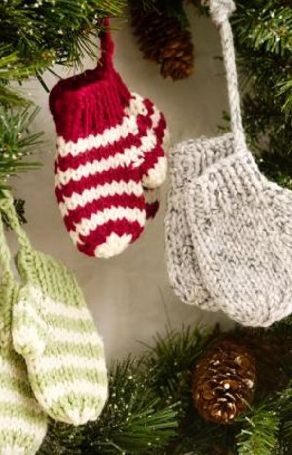 Elegant Knit Mitten ornaments Knitted Christmas ornaments Of Incredible 50 Models Knitted Christmas ornaments