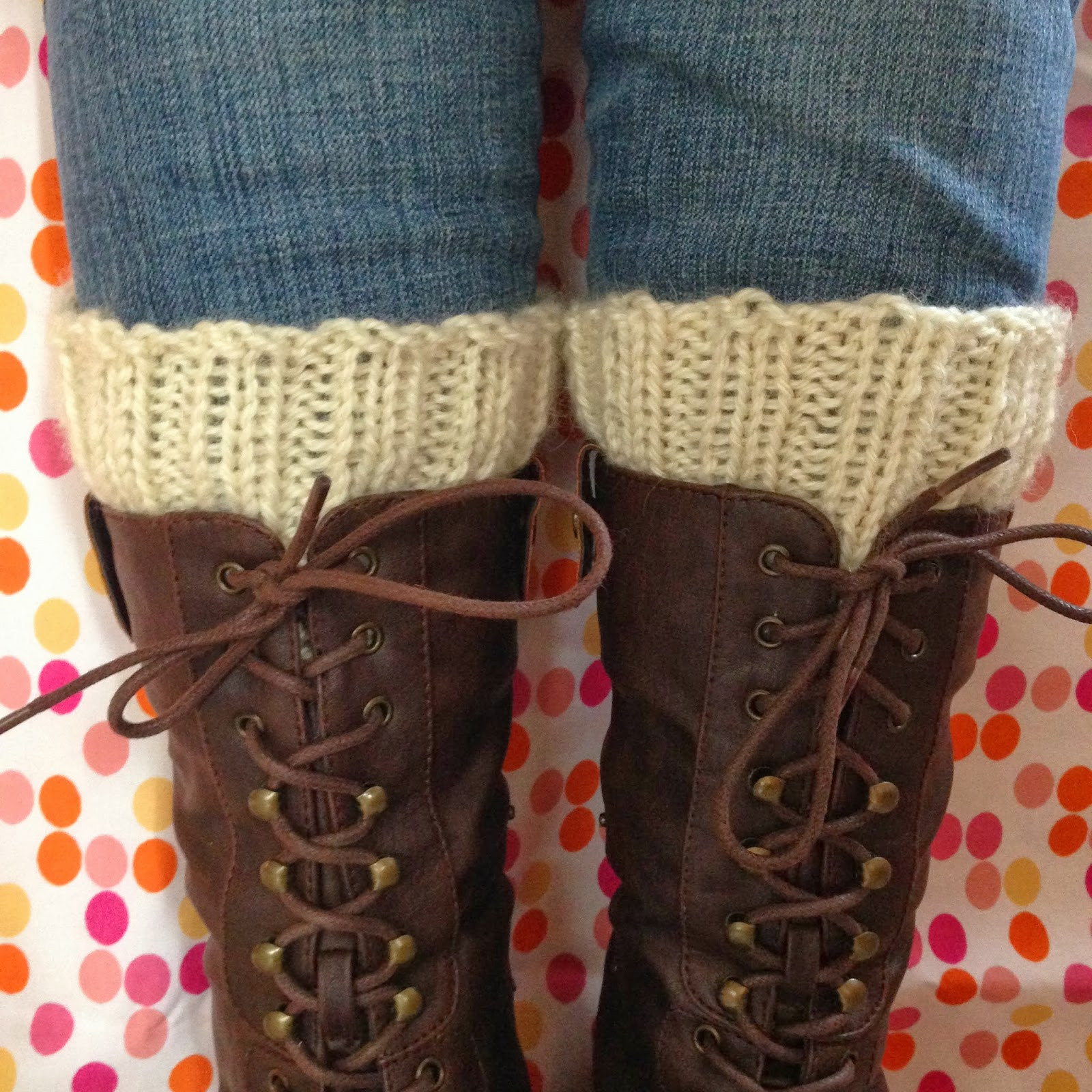 Knit Nat Simple Knitted Boot Cuffs