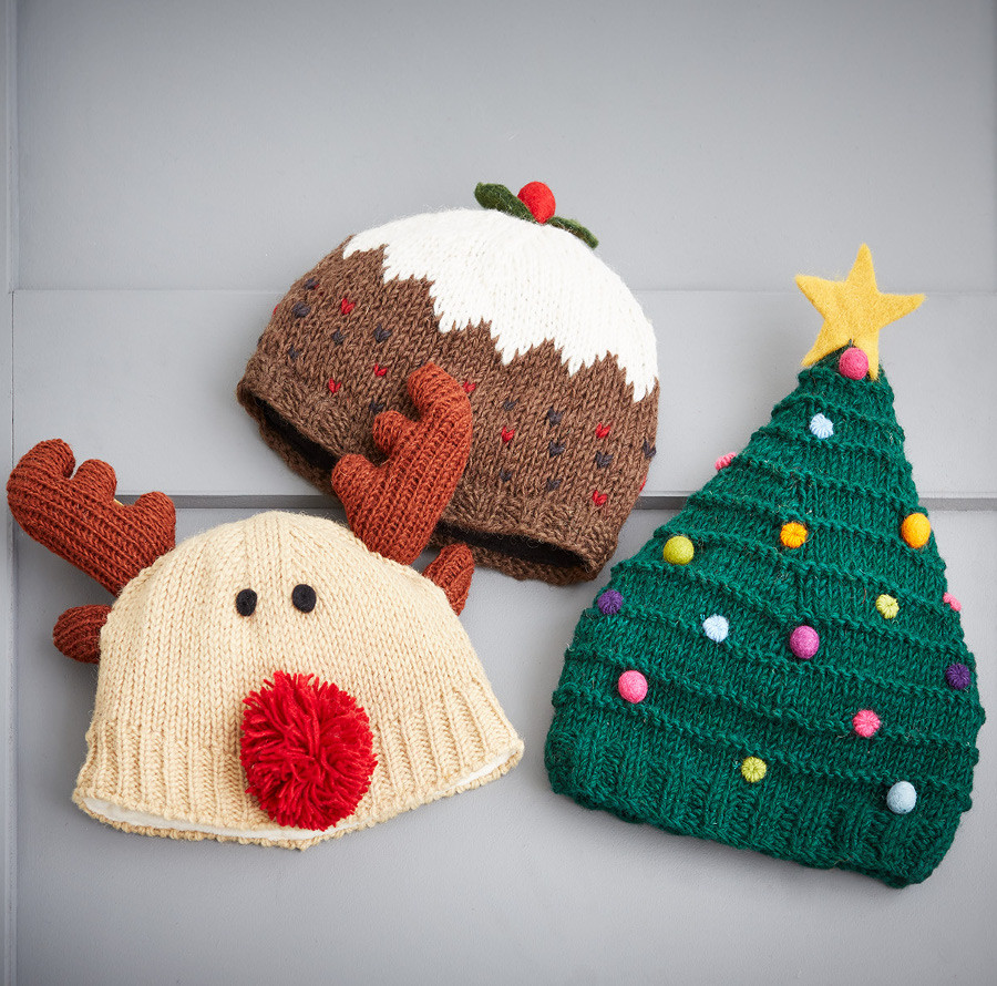 Elegant Knitted Christmas Pudding Hat Pachamama Knitted Christmas Hats Of Adorable 50 Models Knitted Christmas Hats