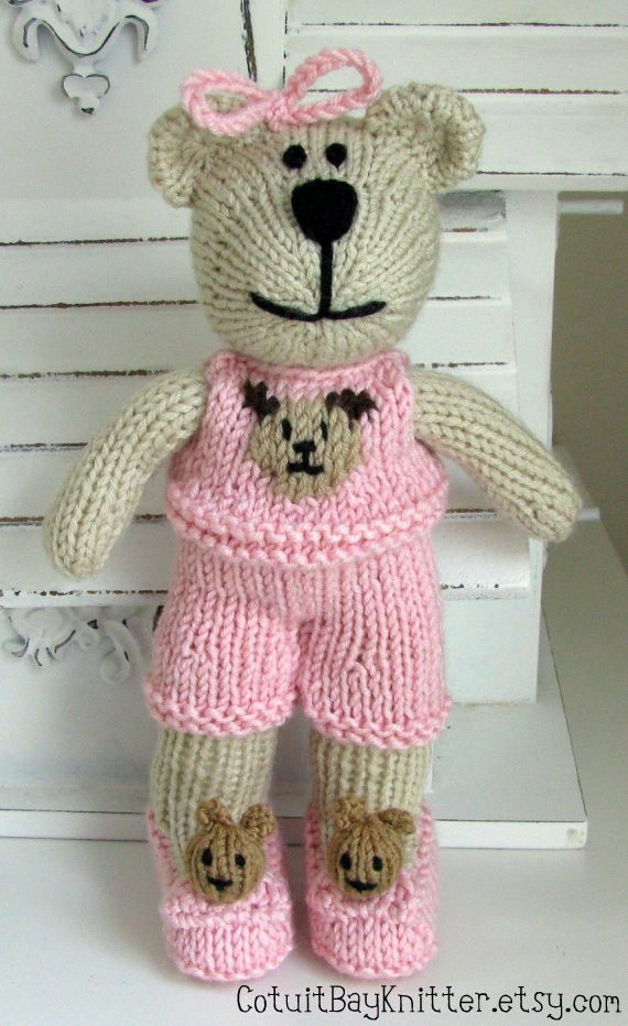 Elegant Knitted toy Teddy Bear Stuffed Animal by Cotuitbayknitter Knit Stuffed Animals Of Beautiful 47 Pics Knit Stuffed Animals