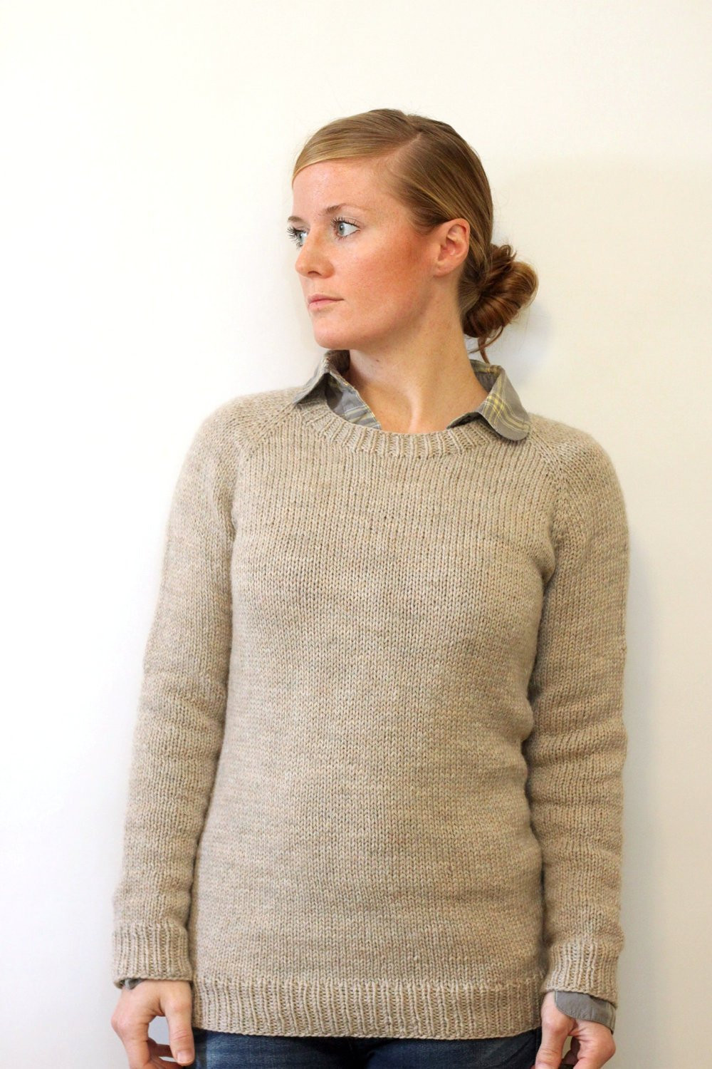 Elegant Knitting Pattern La S Classic Raglan Pullover top Down Easy Knit Sweater Of Brilliant 50 Images Easy Knit Sweater