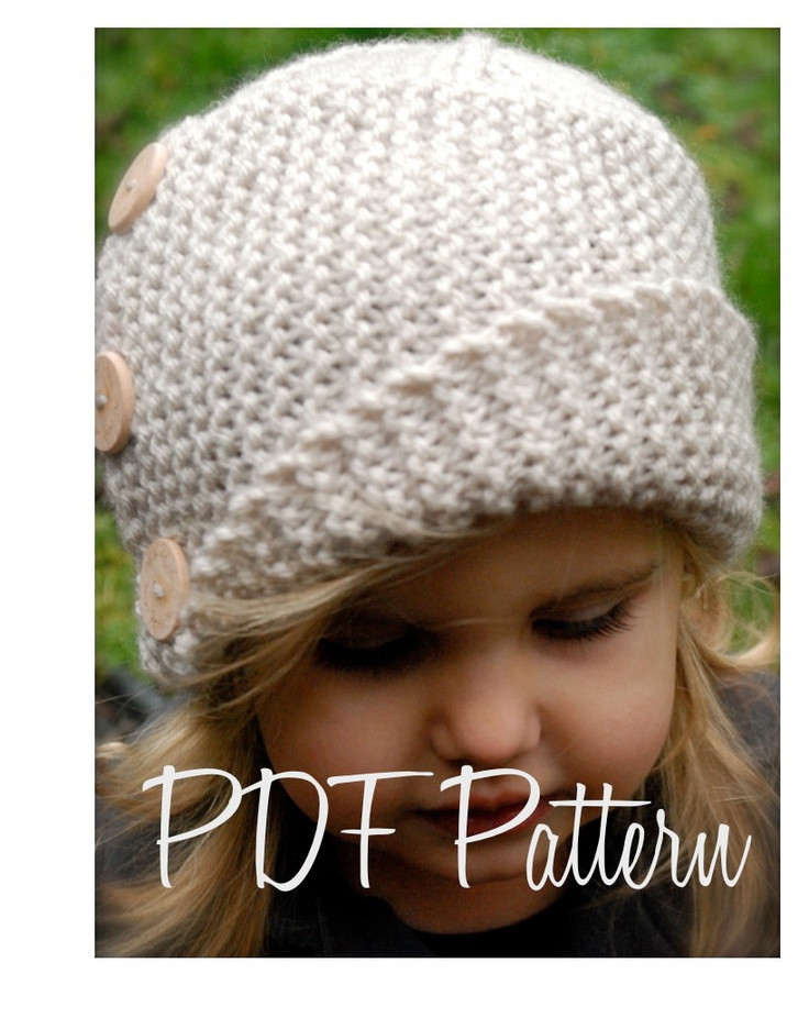 Knitting PATTERN The Piper Cloche Toddler Child Adult