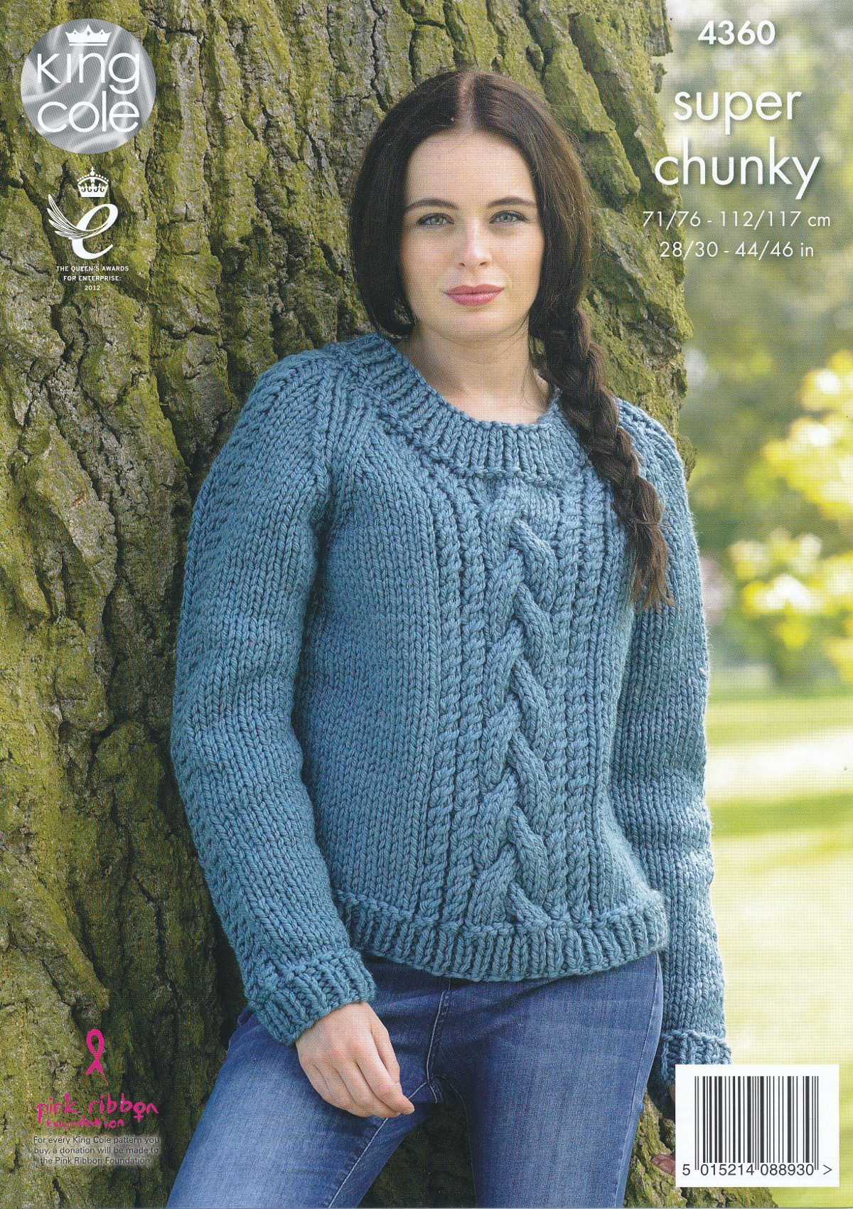 "Elegant La S Super Chunky Knitting Pattern King Cole Cable Knit Cable Knit Sweater Pattern Of New Lace & Cable Sweater Dk Wool 30"" 40"" Knitting Cable Knit Sweater Pattern"