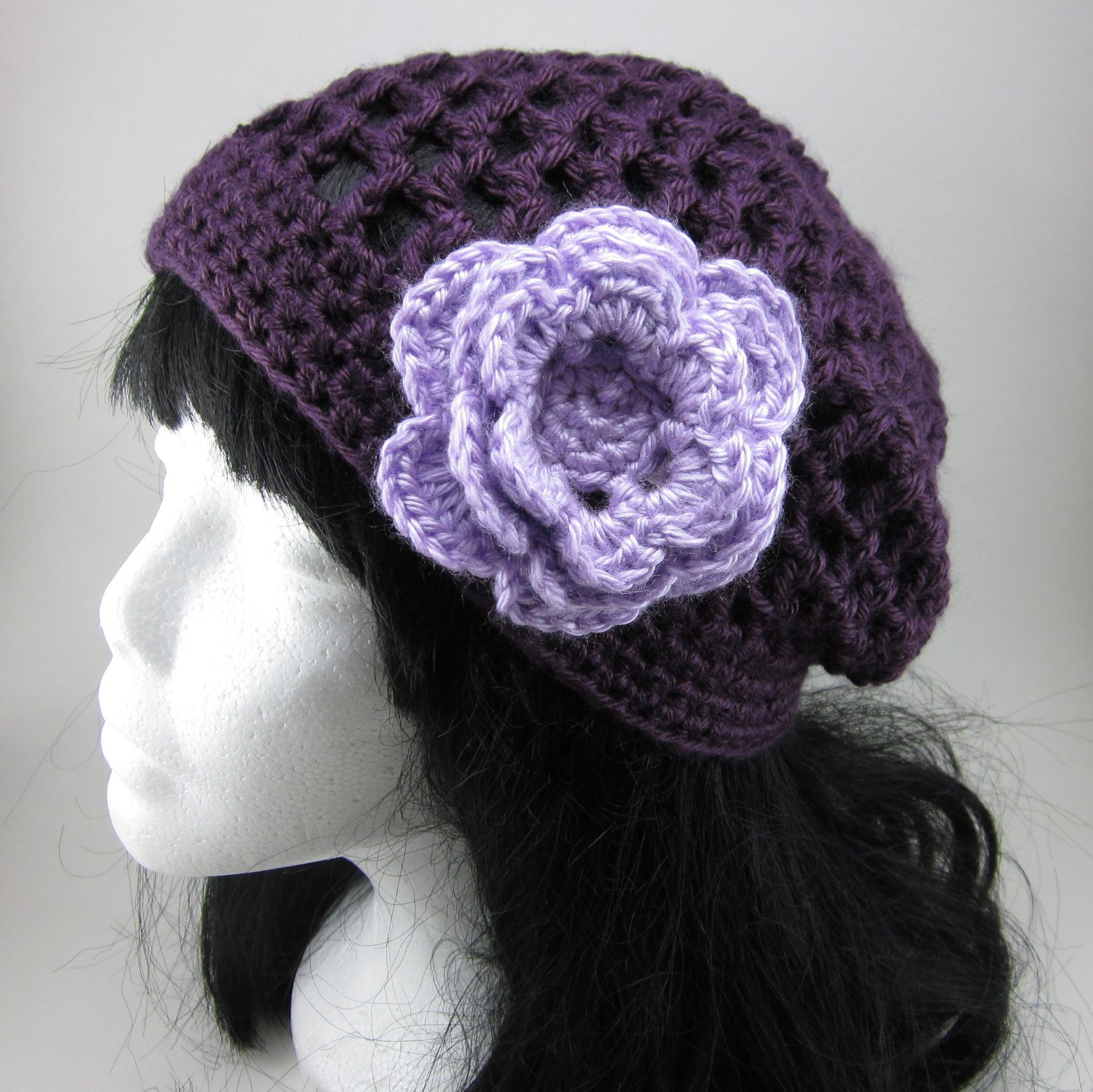 Elegant Lacy Crocheted Hat with Flower Clip Woman Crochet Hat Crochet Flower for Hat Of Beautiful 45 Photos Crochet Flower for Hat