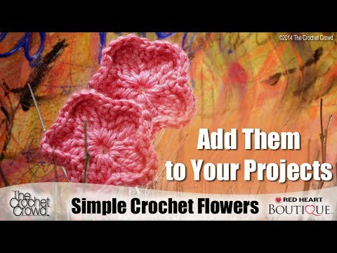 Learn How to Crochet Simple Flowers with Mikey from The
