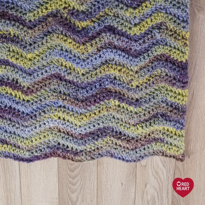 Elegant Learn How to Crochet the Make Waves Throw Pattern by Red Red Heart Evermore Of New 22 Ideas Red Heart Evermore