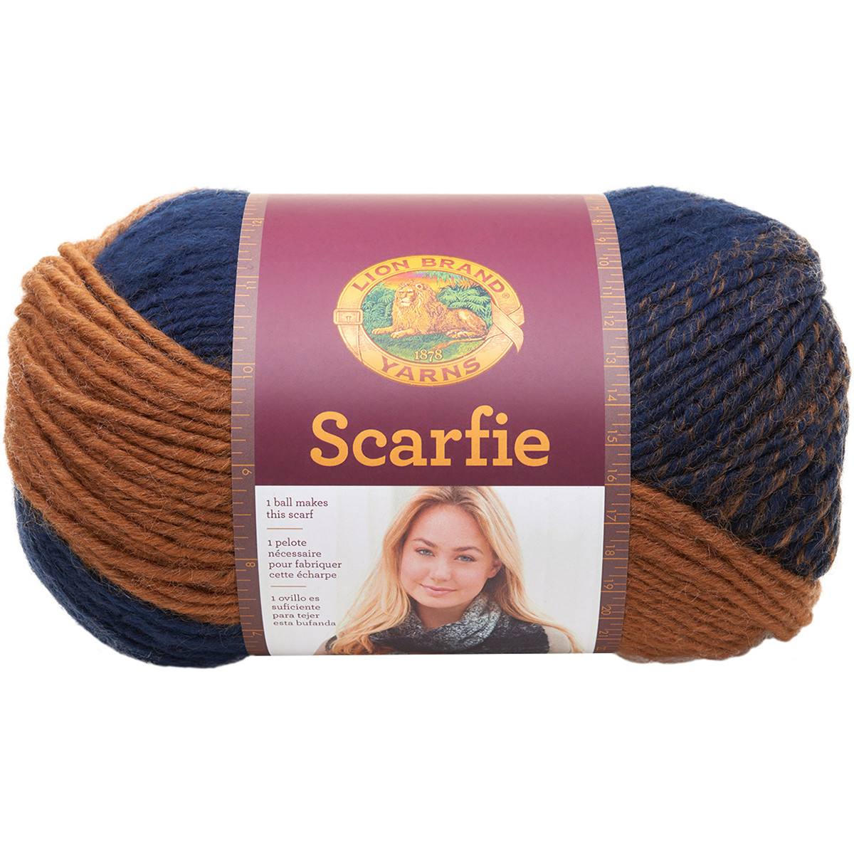 Elegant Lion Brand Scarfie Yarn Ochre Navy Lion Brand Scarfie Patterns Of New 42 Pictures Lion Brand Scarfie Patterns