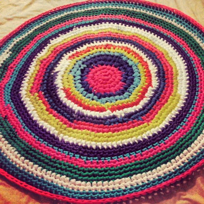 Elegant Look What Ive Made Projects Crochet Crocheted T T Shirt Rug Crochet Of Amazing 48 Pics T Shirt Rug Crochet
